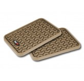 Floor Liners, Rear, Tan, Pair, Universal