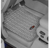 Floor Liners, Front, Gray; 11-14 Ford F-150