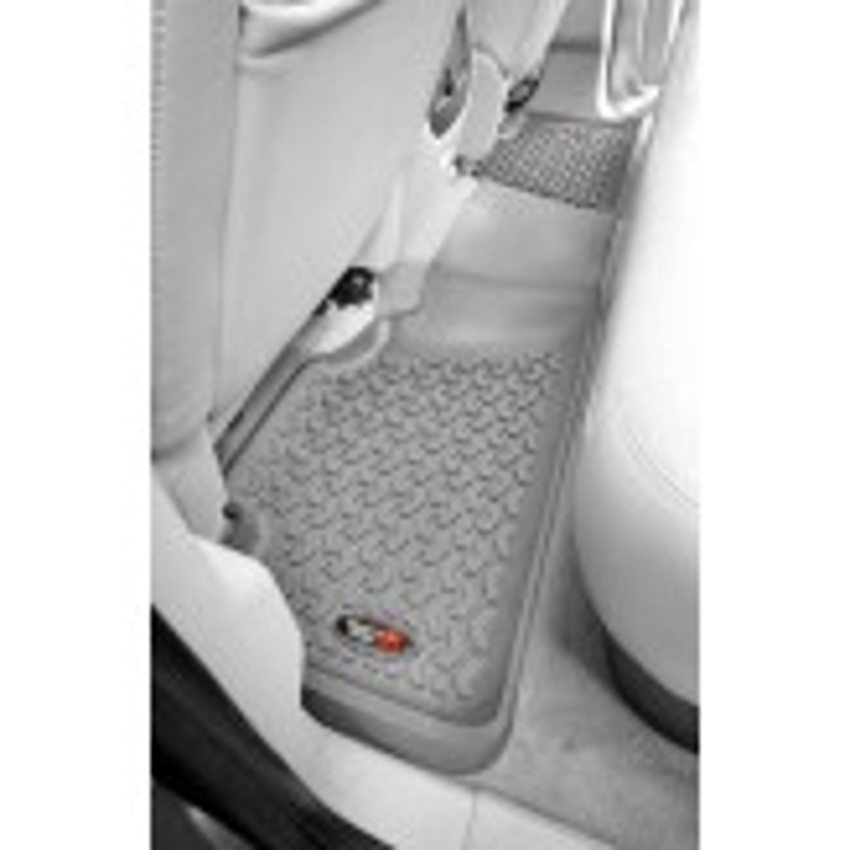 Floor Liners, Rear, Gray; 07-13 Silverado/Sierra 1500 Extended
