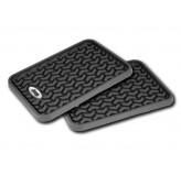 Rear Black Floor Liner Pair With Jeep Logo For All Jeeps