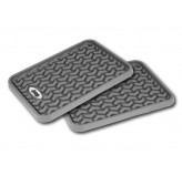 Floor Liners, Rear, Gray, Jeep Logo, Universal